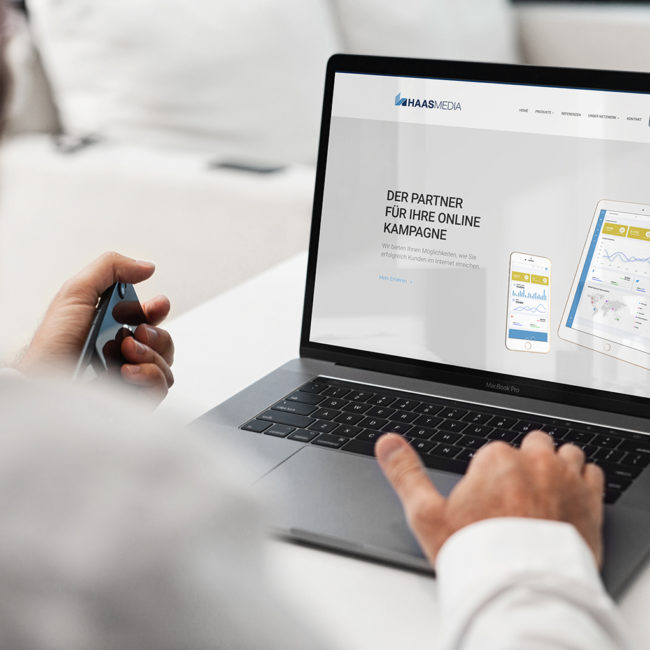 Website Design Büro Blanko Konzept & Design