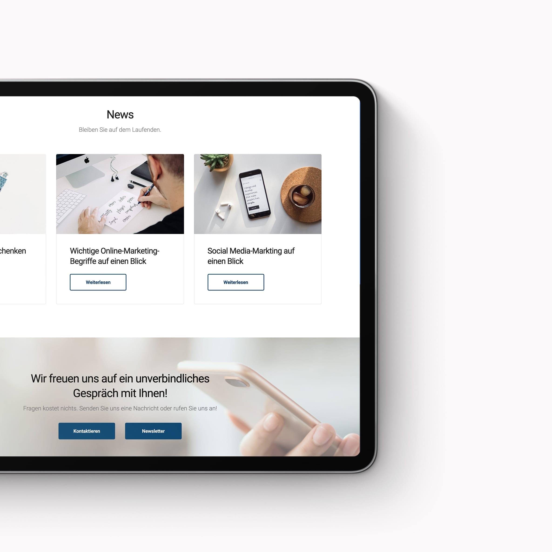 Responsive Design Website Büro Blanko