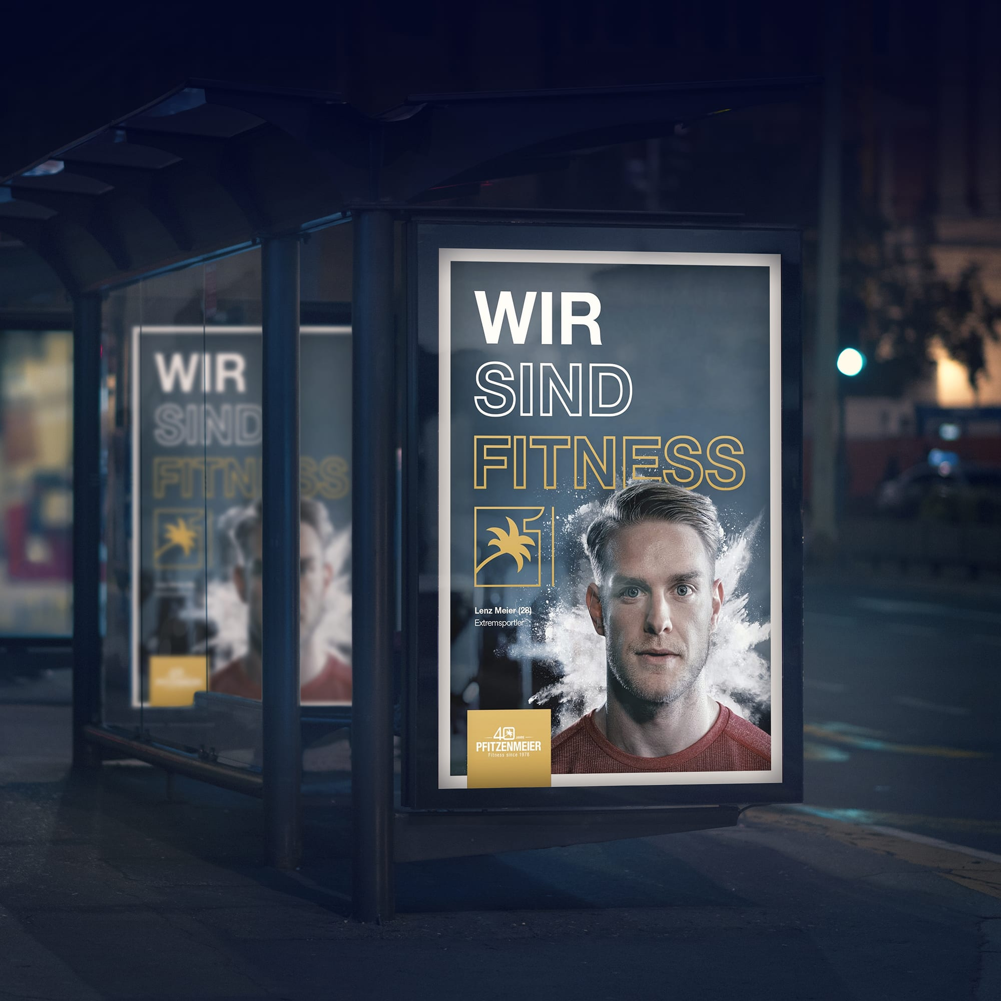 Fitness Werbe Design Mannheim