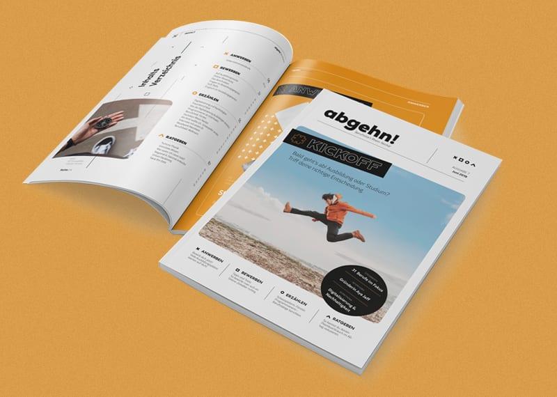 Magazin Design Referenz Büro Blanko