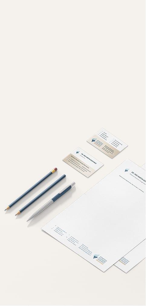 Arzt Corporate Design Referenz Büro Blanko
