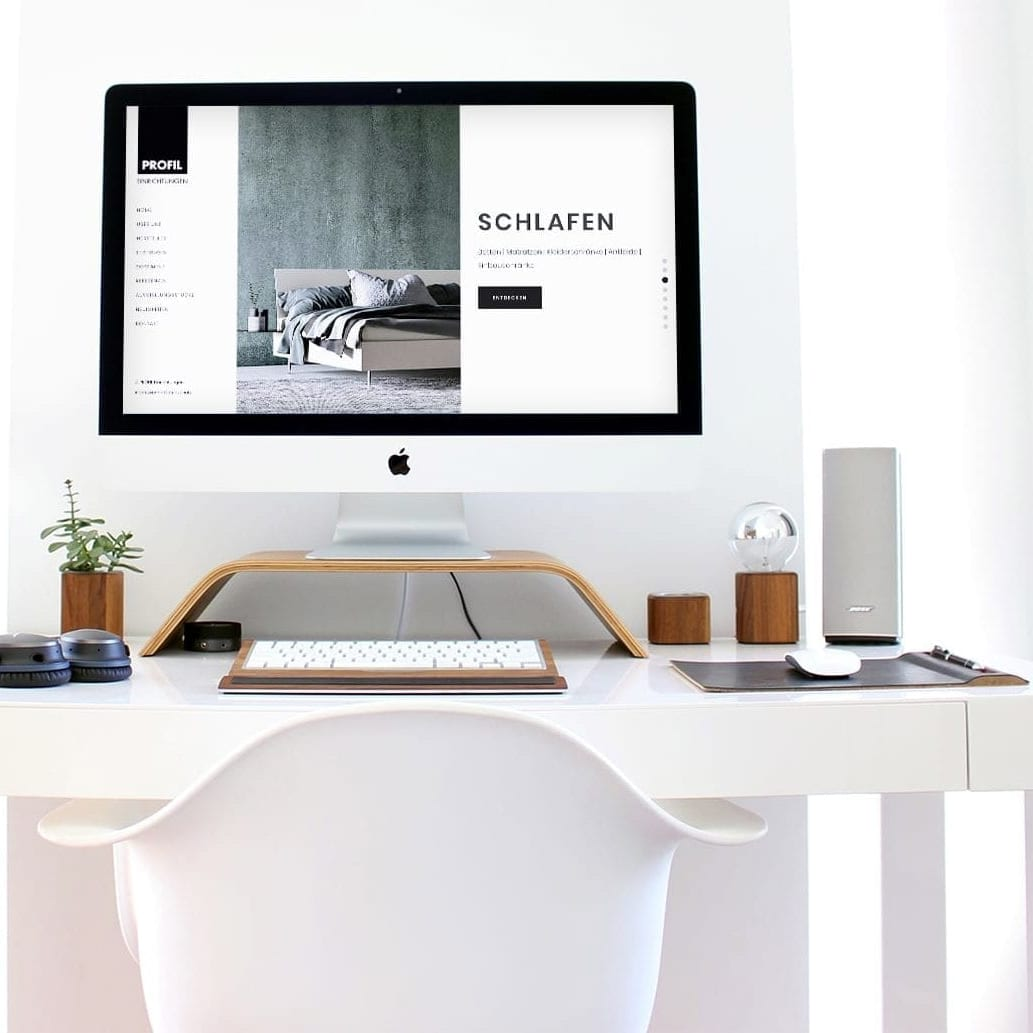 Möbelhaus Webseite Büro Blanko