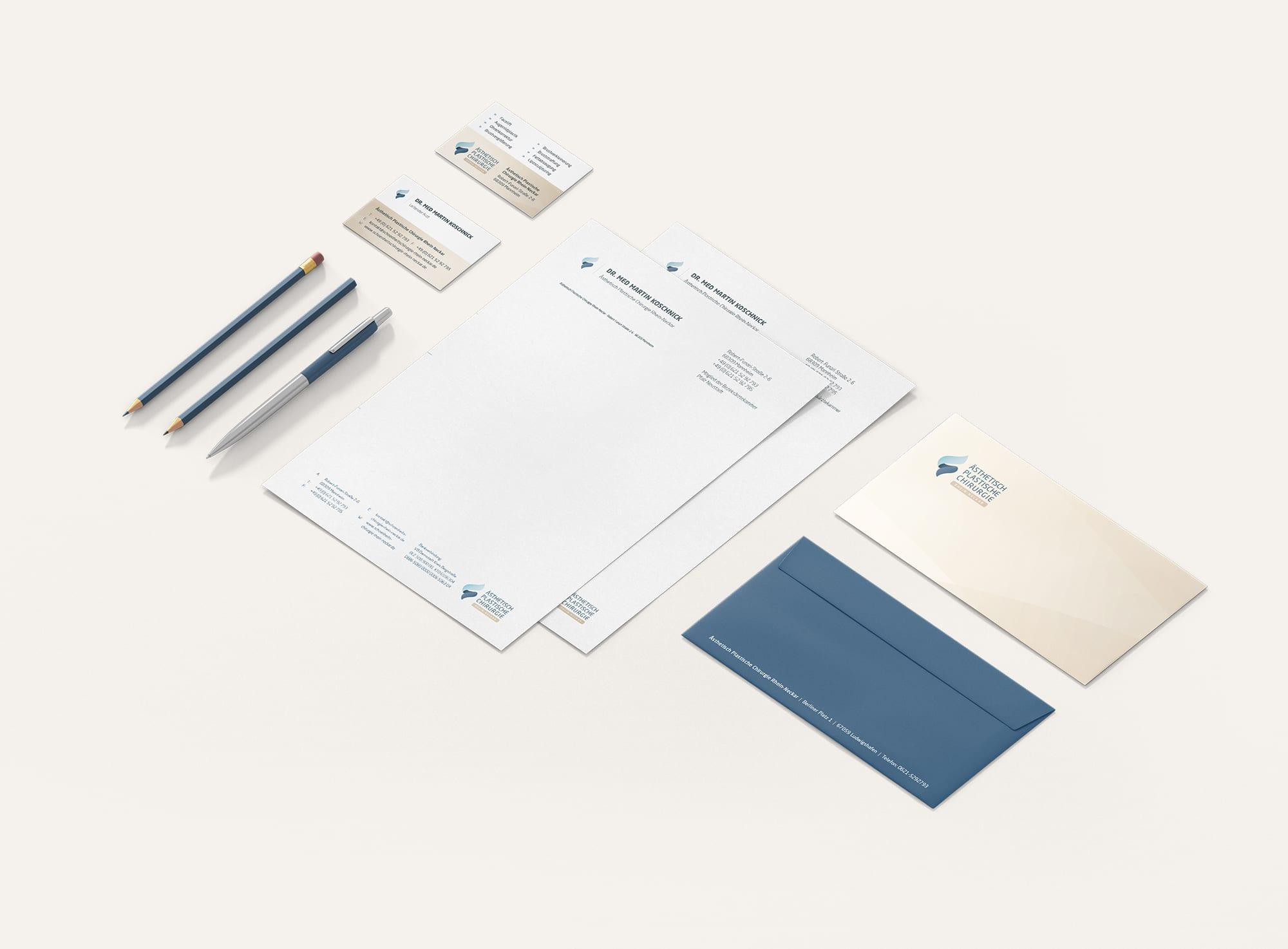 Visitenkarten Design Büro Blanko