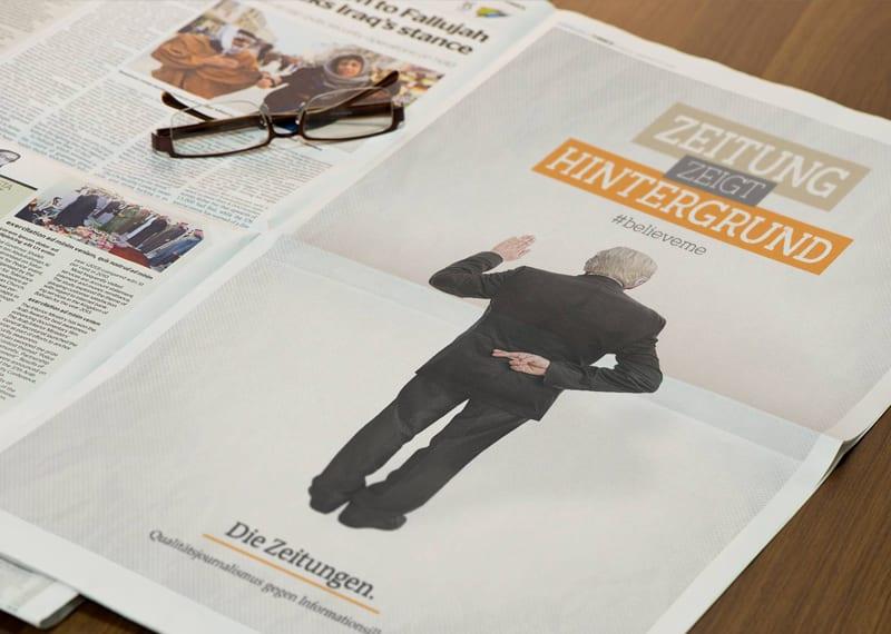 Zeitungsanzeige Design Büro Blanko