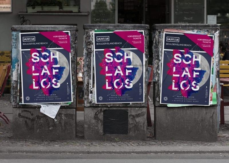 Plakat Event Design Büro Blanko